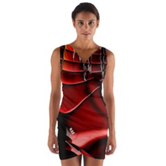 Fractal Mathematics Abstract Wrap Front Bodycon Dress by Amaryn4rt