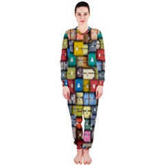 Colored Suitcases Onepiece Jumpsuit (ladies)  by AnjaniArt