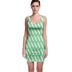 Green White Desktop Sleeveless Bodycon Dress by AnjaniArt