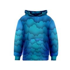 Blue Sky Jpeg Kids  Pullover Hoodie