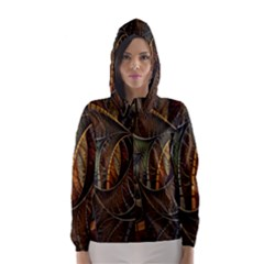 Mosaics Stained Glass Hooded Wind Breaker (women)