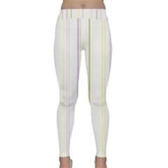 Line Yellow Purple Green Classic Yoga Leggings