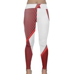 Red Black White Classic Yoga Leggings