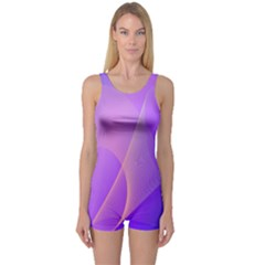Vector Blend Screen Saver Colorful One Piece Boyleg Swimsuit by Amaryn4rt
