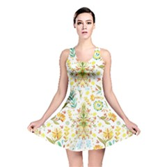 Pastel Flowers Reversible Skater Dress by Brittlevirginclothing
