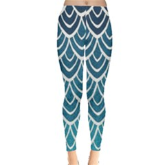 Blue Scale  Leggings  by Brittlevirginclothing