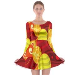 Easter Egg Circle Long Sleeve Skater Dress by Jojostore