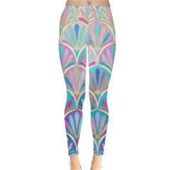Colorful Lila Toned Mosaic Leggings  by Brittlevirginclothing