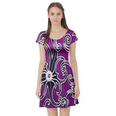 Batik Jogja Short Sleeve Skater Dress