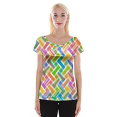 Abstract Pattern Colorful Wallpaper Women s Cap Sleeve Top by Amaryn4rt