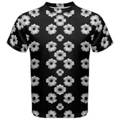 Dark Floral Men s Cotton Tee by dflcprintsclothing