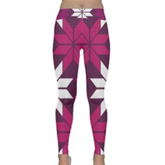Pattern Background Texture Aztec Classic Yoga Leggings by Amaryn4rt