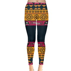 Pattern Ornaments Africa Safari Summer Graphic Leggings  by Amaryn4rt