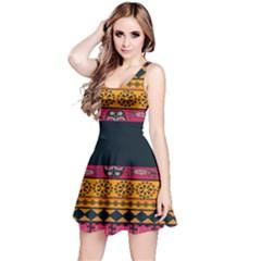 Pattern Ornaments Africa Safari Summer Graphic Reversible Sleeveless Dress by Amaryn4rt