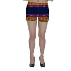 Pattern Ornaments Africa Safari Summer Graphic Skinny Shorts by Amaryn4rt