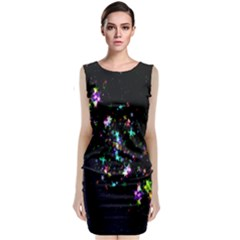Star Structure Many Repetition Classic Sleeveless Midi Dress by Amaryn4rt