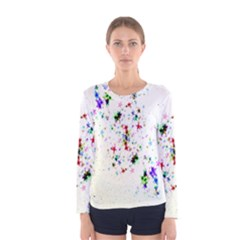 Star Structure Many Repetition Women s Long Sleeve Tee by Amaryn4rt