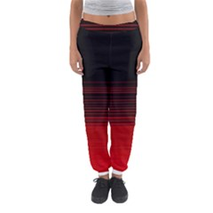 Abstract Of Red Horizontal Lines Women s Jogger Sweatpants