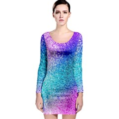 Rainbow Sparkles Long Sleeve Bodycon Dress by Brittlevirginclothing