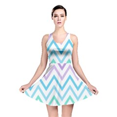 Colorful Wavy Lines Reversible Skater Dress by Brittlevirginclothing
