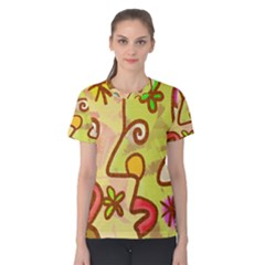 Abstract Faces Abstract Spiral Women s Cotton Tee by Amaryn4rt