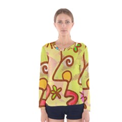 Abstract Faces Abstract Spiral Women s Long Sleeve Tee by Amaryn4rt