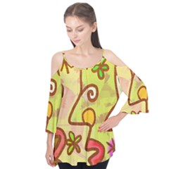 Abstract Faces Abstract Spiral Flutter Tees by Amaryn4rt