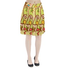 Abstract Faces Abstract Spiral Pleated Skirt by Amaryn4rt