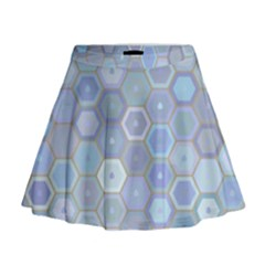 Bee Hive Background Mini Flare Skirt by Amaryn4rt