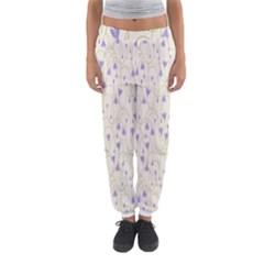 Flower Purple Women s Jogger Sweatpants by Jojostore