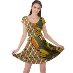 Lattice Cap Sleeve Dresses