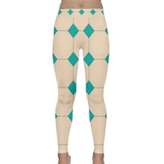 Tile Pattern Wallpaper Background Classic Yoga Leggings