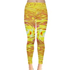 Yellow Seamless Psychedelic Pattern Leggings