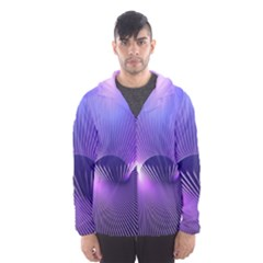 Space Galaxy Purple Blue Line Hooded Wind Breaker (men)