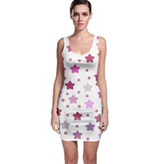 Star Purple Sleeveless Bodycon Dress by AnjaniArt