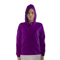 Stripy Purple Hooded Wind Breaker (women)