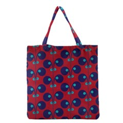 Texture Bright Circles Grocery Tote Bag
