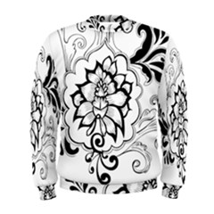Free Floral Decorative Men s Sweatshirt
