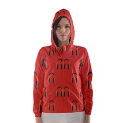 Headphones Red Hooded Wind Breaker (women)