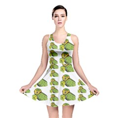 Parrot Bird Green Animals Reversible Skater Dress