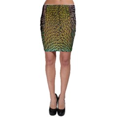 Peacock Bird Feather Color Bodycon Skirt by AnjaniArt