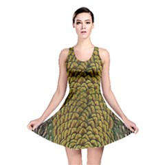Peacock Bird Feather Color Reversible Skater Dress by AnjaniArt