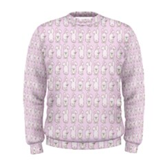 Rabbit Pink Animals Men s Sweatshirt