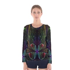 Rose Flower Floral Gold Women s Long Sleeve Tee by AnjaniArt
