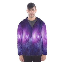 Galaxy Space Purple Hooded Wind Breaker (men)