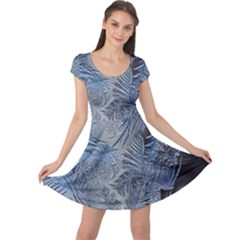 Frost Leafe Cap Sleeve Dresses by AnjaniArt
