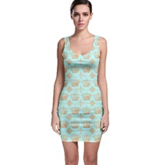 Crown King Paris Sleeveless Bodycon Dress by AnjaniArt