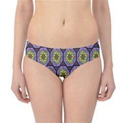 Background Colour Star Flower Purple Yellow Hipster Bikini Bottoms by AnjaniArt