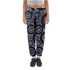 Selected Figures From The Paper Circle Black Hole Women s Jogger Sweatpants by AnjaniArt