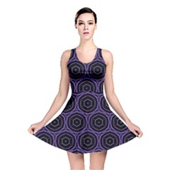 Background Colour Purple Circle Reversible Skater Dress by AnjaniArt